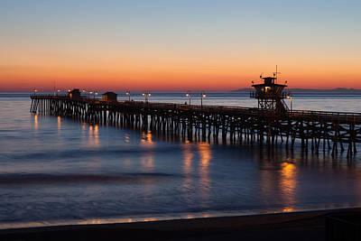 Clemente Photograph - Twilight San Clemente Pier by Cliff Wassmann