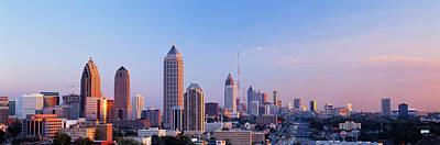 Twilight, Skyline, Atlanta, Georgia, Usa Print by Panoramic Images