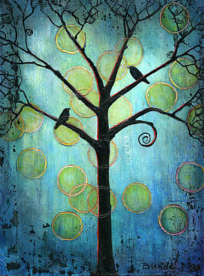 Tree Of Life Painting - Twilight Version 2 by Blenda Studio