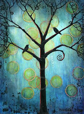 Bird Painting - Twilight Version 2 by Blenda Studio