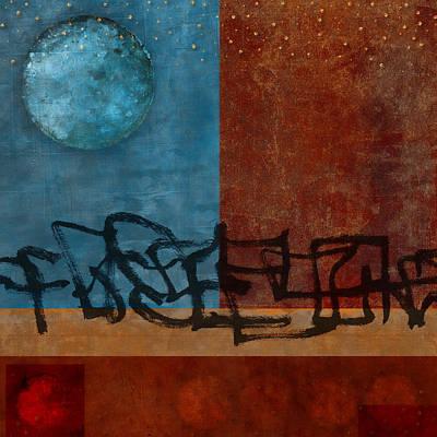 Circles Digital Art - Twilight Walk by Carol Leigh