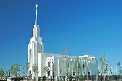 Twin Falls Idaho Lds Temple Print by Nick  Boren