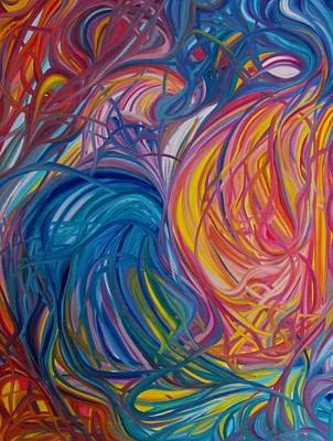 Twin Flame Painting - Twin Flames by Marie-Chantal Kindou