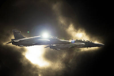 Hawk Mk 120 Photograph - Twin Hawk by Paul Job
