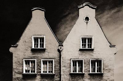 Twin Houses Print by Arkady Kunysz