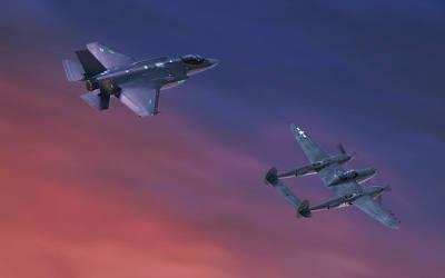 Joint Digital Art - Twin Lightnings by Hangar B Productions