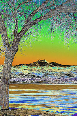 Epic Photograph - Twin Peaks Winter Portrait View Solarized by James BO  Insogna