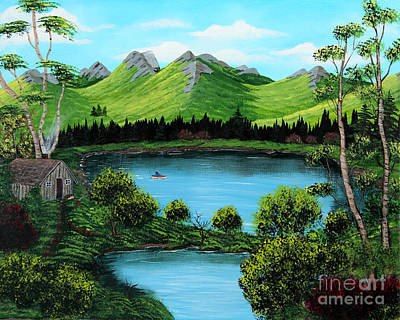 Twin Ponds Print by Barbara Griffin