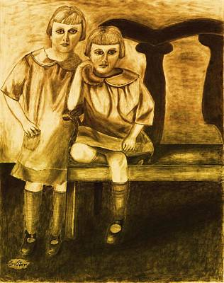 Twin Sisters Original by Irving Starr