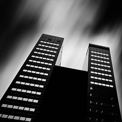 Twin Towers Print by Dave Bowman