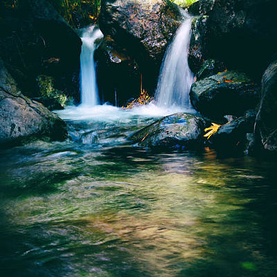 Twin Waterfall Print by Stelios Kleanthous