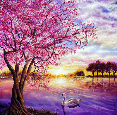 Twisted Blossom Print by Ann Marie Bone