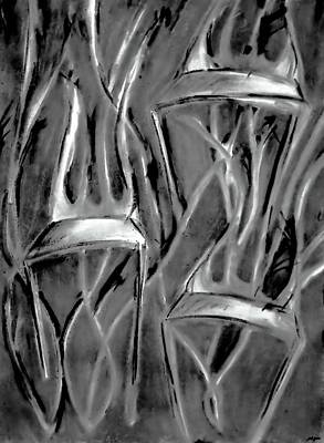 Twisted Chairs Print by John Grace