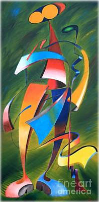 Painting - Twisted Wood Man by Abu Artist