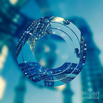 Abstruse Digital Art - Twisting Blue Steel by Beverly Claire Kaiya