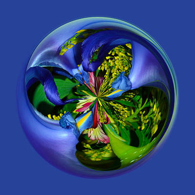 Orb Photograph - Twisting Orb by Brent Dolliver