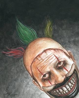 Freak Show Drawing - Twisty Night by Bruce Lennon