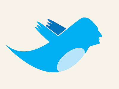 Collectible Mixed Media - Twitter George Washington by Tony Rubino