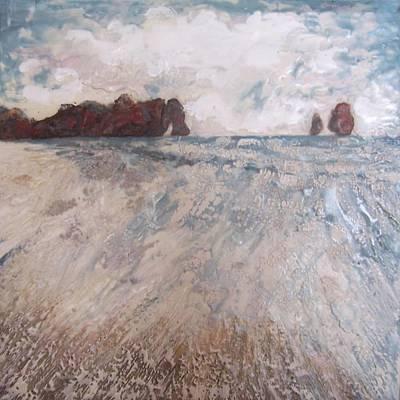 Encaustic Painting - Two Apostles by Victoria Primicias