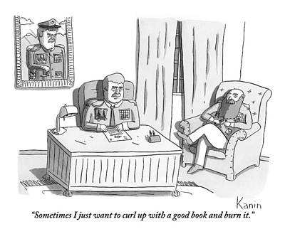 Two Army Generals Are Seen Sitting And Talking Print by Zachary Kanin