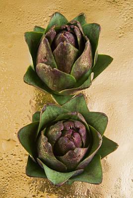 Artichoke Photograph - Two Artichokes by Nico Tondini