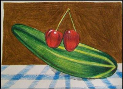 Two Cherries With Cucumber. Original by Jonathan Osman