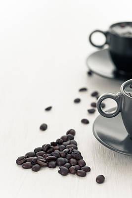 Snack Bar Photograph - Two Coffee Cup  by Sviatlana Kandybovich