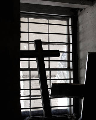 Mission San Juan Bautista Photograph - Two Crosses by Art Block Collections