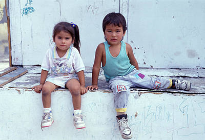 Affable Photograph - Two Cute Kids by Mark Goebel