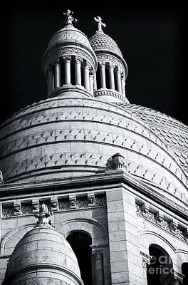 Sacre Coeur Photograph - Two Domes At Sacred Heart by John Rizzuto