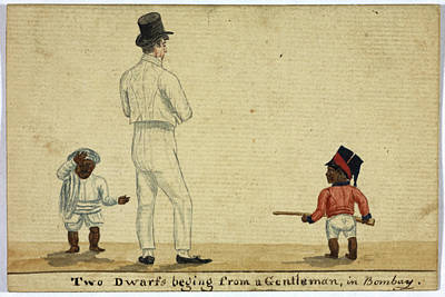 Two Dwarfs Begging In Bombay Print by British Library