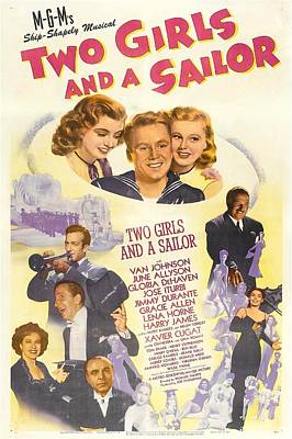 Harry James Photograph - Two Girls And A Sailor, Us Poster, Top by Everett