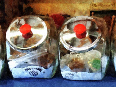 Foods Photograph - Two Glass Cookie Jars by Susan Savad