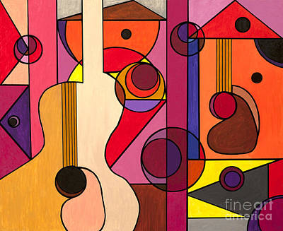 Two Guitars Print by Christopher Page