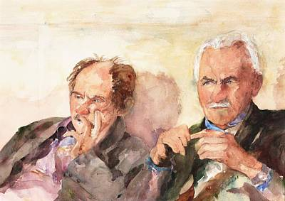 Femal Portrait Painting - Two Guys From Italy by Rose Sinatra