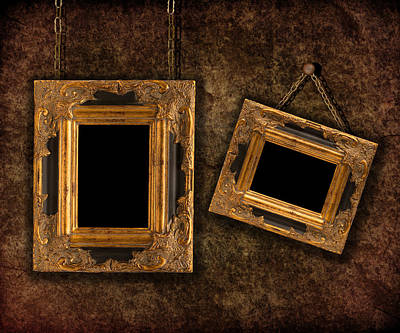 Two Hanging Frames Print by Amanda Elwell