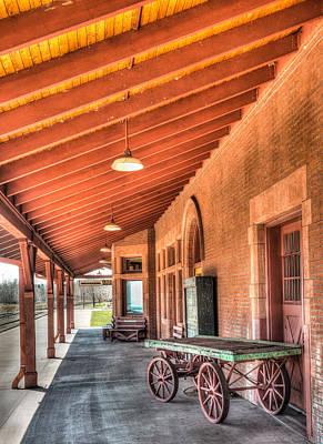 Window Bench Photograph - Two Harbors Train Depot by Paul Freidlund