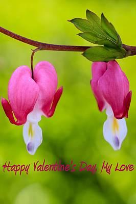 Two Hearts Valentine's Day Print by Heidi Smith
