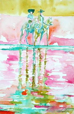 Two Horsemen Print by Fabrizio Cassetta
