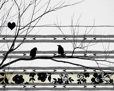 Starlings Digital Art - Two Is Better by Gothicrow Images