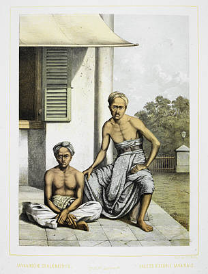 Two Javanese Servants Print by British Library