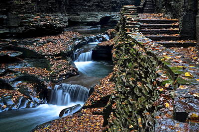 Two Kinds Of Steps Print by Frozen in Time Fine Art Photography