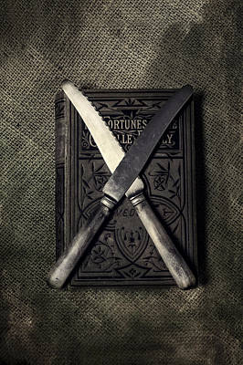 Two Knives And A Book Print by Joana Kruse
