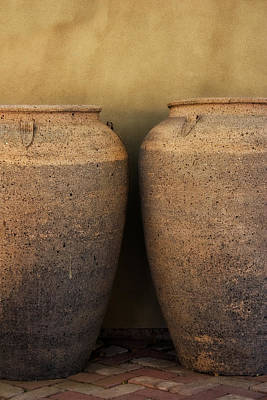 Two Large Garden Urns Print by Carol Leigh
