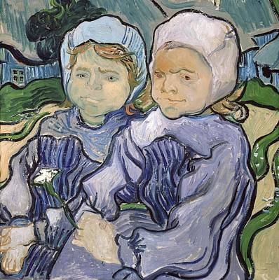 Odd Portrait Painting - Two Little Girls by Vincent Van Gogh
