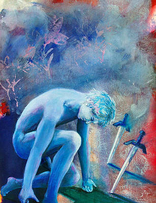 Zodiac Painting - Two Of Swords by Rene Capone