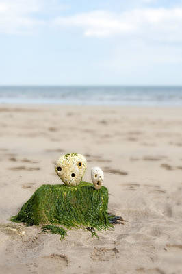 Two Faces Photograph - Two On A Beach by Svetlana Sewell
