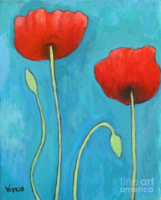 Painting - Two Poppies by Venus