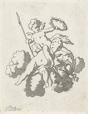 Bo Drawing - Two Putti, Anthonie Van Den Bos, Jan Bulthuis by Artokoloro