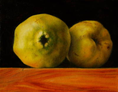 Petrov Painting - Two Quinces by Dan Petrov